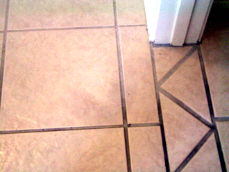 Before staining Grout