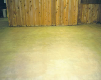 Concrete stained and sealed