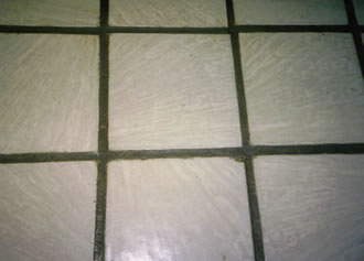 concrete pavers with unsealed grout
